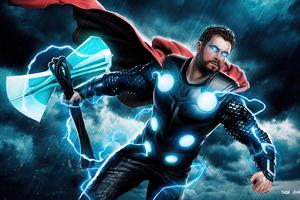 Thor Lightning 5k Wallpaper