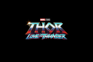 Thor Love And Thunder 2021 Logo Wallpaper