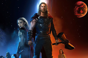 Thor Love And Thunder 2021 Movie Art Wallpaper