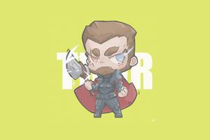 Thor Minimal Chibbi 4k