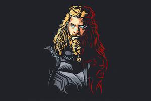 Thor Minimalism 5k Wallpaper