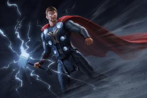 Thor New Digital Art Wallpaper