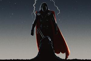 Thor Picking Up Mjolnir Wallpaper