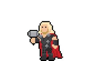 Thor Pixel Art Wallpaper