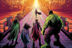 Thor Ragnarok Artwork Wallpaper
