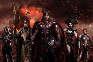 Thor Ragnarok Fan Poster Wallpaper