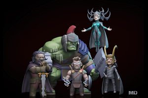 Thor Ragnarok Movie Art