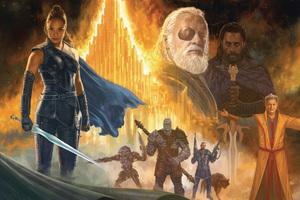 Thor Ragnarok Movie Artwork Wallpaper