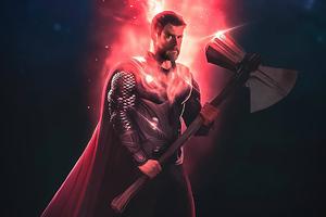 Thor Reality Stone 4k Wallpaper