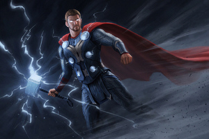 Thor Thunder Art Wallpaper