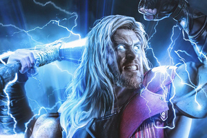 Thor Thunder Strike 4k Wallpaper