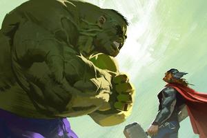 Thor Vs Hulk 5k Artwork Wallpaper