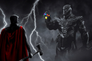 Thor Vs Thanos War 4k Wallpaper