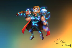 Thor With His New Hammer