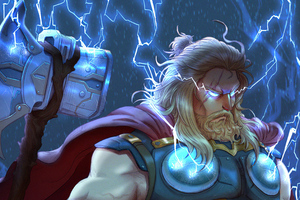 Thor With Two Hammer Wallpaper