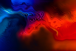 Three Colour Mix Abstract 4k Wallpaper