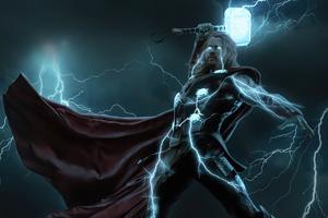 Thunder Thor 4k Wallpaper