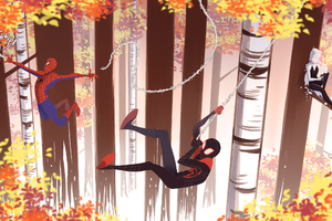 Thwip And Release Spider Verse Wallpaper
