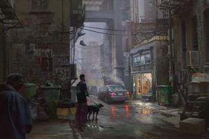Tian Gan Tian Street Alley 4k Wallpaper