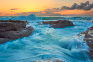 Tide And Waves Long Exposure 4k Wallpaper