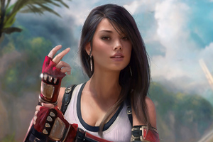 Tifa Lockhart Final Fantasy Game Artwork
