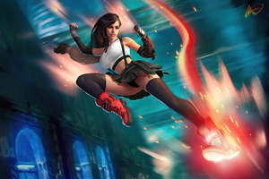 Tifa Lockhart Kicking 4k
