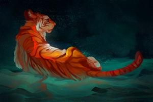 Tiger Artwork Wallpaper