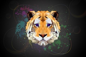 Tiger Facets Wallpaper