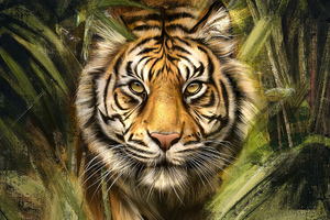 Tiger Painting Art Wallpaper
