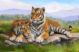 Tigers Art Wallpaper