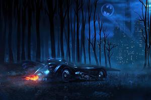 Tim Burton Batmobile Wallpaper