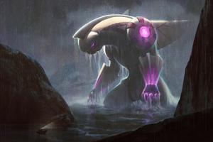 Titan Palkia Kaiju Pokemon Fan Art 4k Wallpaper