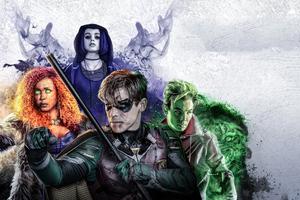 Titans Poster 4k Wallpaper