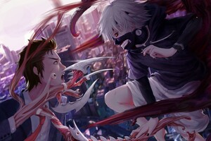 Tokyo Ghoul Anime Digital Art Wallpaper