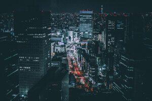 Tokyo Night 5k Wallpaper
