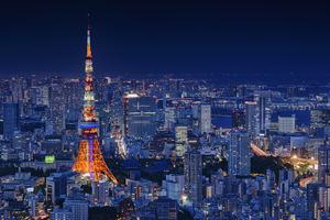 Tokyo Tower 4k Wallpaper