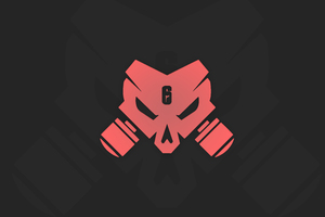 Tom Clancys Rainbow Six Siege Outbreak Logo Minimal 12k Wallpaper