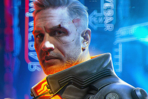 Tom Hardy Cyberpunk 2077 Wallpaper