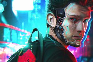 Tom Holland In Cyberpunk Style 4k Wallpaper