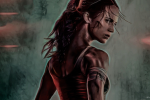Tomb Raider 2018 Movie Alicia Vikander Artwork Wallpaper