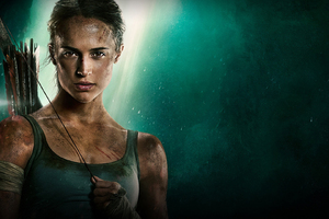 Tomb Raider 2018 Movie Alicia Vikander Poster Wallpaper