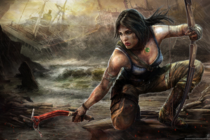 Tomb Raider 5k Art Wallpaper