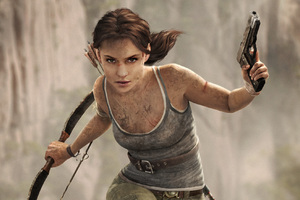 Tomb Raider Alicia Vikander Art Wallpaper