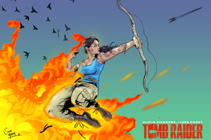 Tomb Raider Alicia Vikander Fan Art Wallpaper