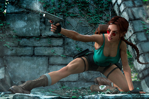 Tomb Raider Firing Art