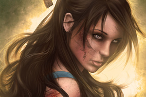 Tomb Raider Girl Brunette Hair Fantasy Artwork