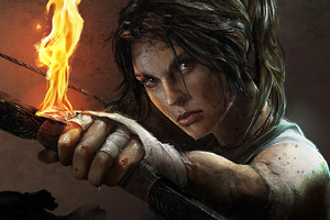 Tomb Raider Lara Croft Artwork 4k
