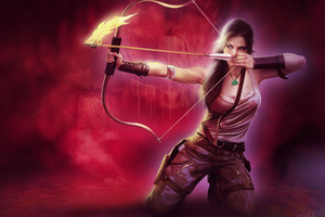 Tomb Raider Lara Croft Girl With Bow And Arrow Wallpaper