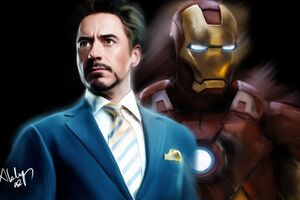 Tony Stark As Iron Man Portrait Artwork 5k
