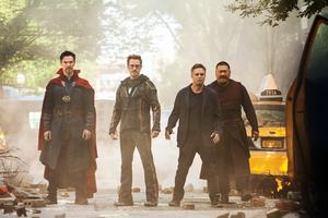 Tony Stark Doctor Strange Wong And Bruce Banner Avengers Infinity War